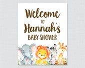 Safari Baby Shower Welcom...