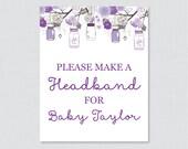 Purple Mason Jar Baby Sho...