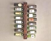 Rustic Wine Rack |  Wine Bottle Holder | Wood Wall Wine Display | Wine Bottle Rack