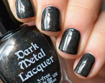 Waiting For You - Black holographic creme nail polish (11ml)