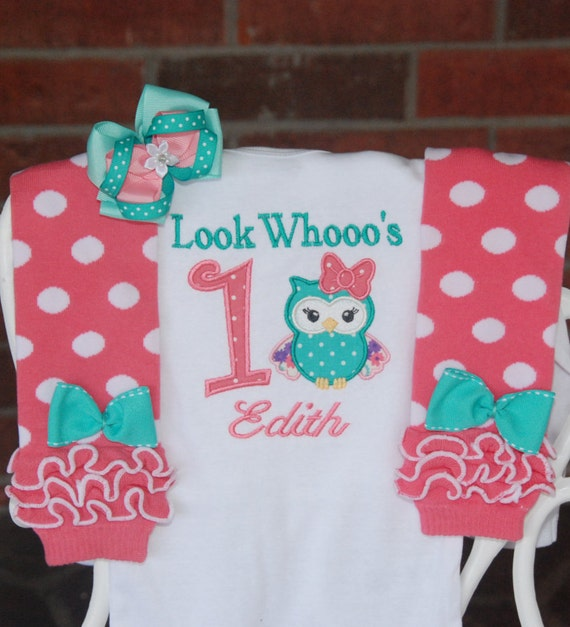 Baby Girl Owl First Birthday Outfit Baby Girl Owl 1st