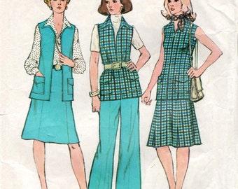 "Vintage sewing pattern Simplicity 6105 Misses' Vest, Skirt and Pants Bust 38"""