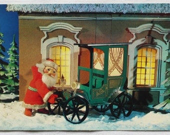 Happy New Year! Vintage Soviet Postcard. Photographer Poklada - 1990. USSR Ministry of Communications Publ. Santa Claus, Father Frost