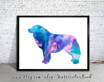 Great Pyrenees Watercolor Print, Great Pyrenees art, Home Decor, dog watercolor, watercolor painting, animal watercolor, dog art, print art