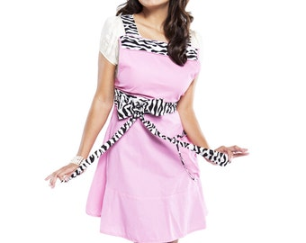 Flirty Aprons Women's Betty Zebra Apron