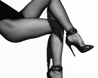 Stockings / pantyhose with fringe