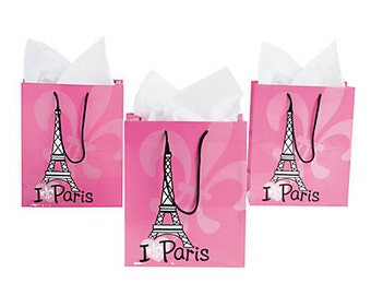 12/ Medium Paris Bags / Favor bags/ Gift bags/