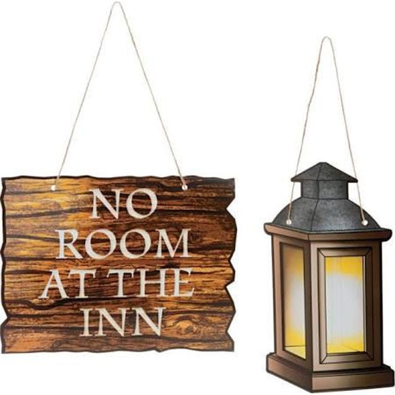 No room at the Inn props Sign / Christmas party / Nativity