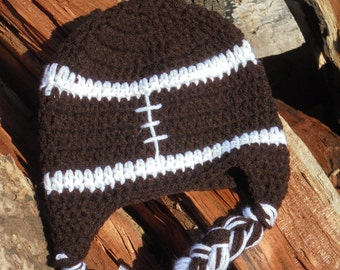 Crochet baby hat--Football hat--- Infant football hat---Crochet football hat--Photo Prop