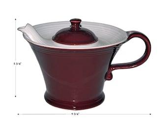 Hall China Melody Vintage Maroon Teapot