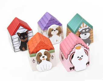 Puppy House Sticky Notes (30 Sheets x 1 pc) Korean Stationery Kawaii Dog Post It N0091