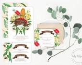 Printable Wedding Invitation | Australian Natives Watercolor Floral | Rustic Wedding Invite | Floral Bohemian | DIY Printable Invitations