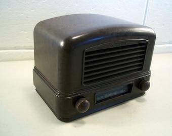 Vintage Radio Bakelite Radio Vintage Tube Radio Airline Radio Art Deco Radio Vintage Electronics Antique Radio Tabletop Radio Working
