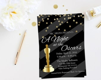 Oscar Party Invitation Oscar Invitation Academy Awards