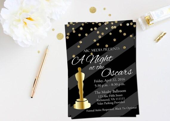oscar party invitation academy awards invitation oscar