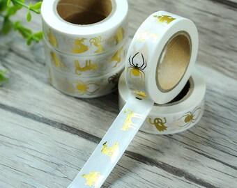 Halloween gold foil washi tape