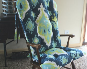 custom premier ikat rocking chair cushions glider replacement pads rocker cushions wooden rocking chair pads - Wooden Rocking Chair Cushions