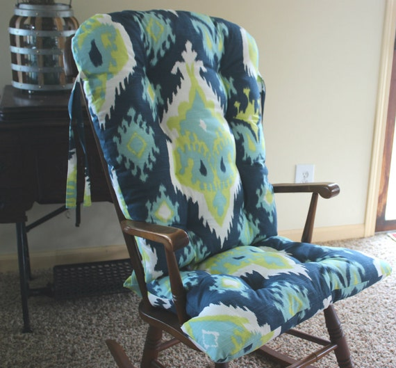 Custom Premier Ikat Rocking Chair Cushions, Glider Replacement Pads ...