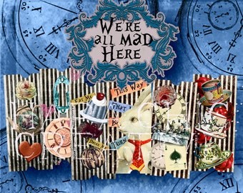 Alice in Wonderland Decorations   wonderland party supplies   Printables  Tickets  Alice Party Supplies   Alice Clipart  Digital