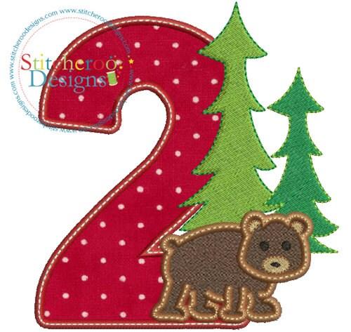 Lumberjack Birthday 2 Applique Design In Hoop Sizes 4x4