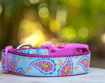 Paisley Dog Collar / Pastel Dog Collar /Dog Collars Australia - XS-XL Dogs