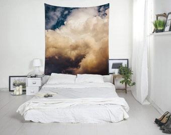 Cloud Tapestry, Sky Print, Storm Cloud, Wall Decoration, Bedroom Wall Art