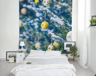 Christmas Tapestry, Holiday Wall Decor, Christmas Tree, Wall Tapestry, Holiday Decor, Office Decor For December