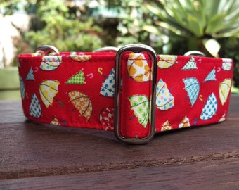 """Martingale Collar - Whippet, and Small to Medium Dog - 1.5"""" width - Brollies"""