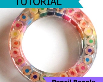 Pencil Bangle Tutorial - Resin DIY How to Jewellery Jewelry