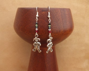 Jester earrings, court jester earrings, fool earrings