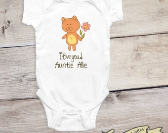 Aunt uncle stylish littles i love my aunt baby shirt custom aunt onesie gift for aunt negle Choice Image