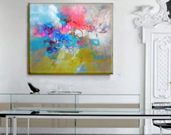 Modern Art Abstract Painting, Original Painting Canvas Art, Abstract Painting Canvas Art, Living Room Art, Large Abstract Paintin