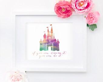 Disney Castle Quote 8x10 Print