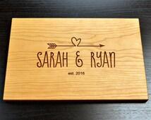 Custom Cutting Board-Engraved Cutting Board, Custom Personalized Wedding Gift, Housewarming Gift, Anniversary Gift, Custom Cutting