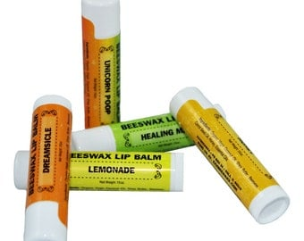 Natural & Organic Beeswax Lip Balm | Various Flavors