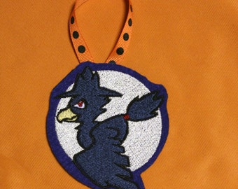 Embroidered Halloween Ornament - Murkrow