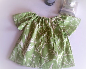 CLEARANCE****  LIBERTY girls peasant top. Size 18-24 months,  NEW, Handmade. Ready to ship