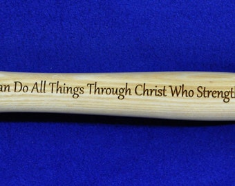 Christian Gift ~ Gift For Pastor ~ Gift For Clergy ~ Church Gifts ~ Engraved Gift For Pastor ~ Engraved Hammer ~ Bible Verse Gift ~ Jesus ~