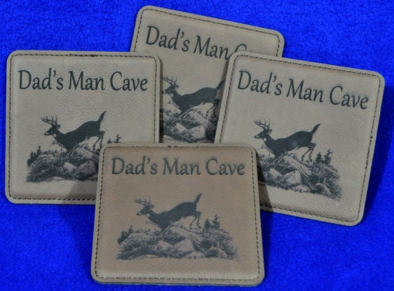 Christmas Gift For Dad ~ Husband Gift ~ Groomsmen Gift ~ Engraved Coasters ~ Leather Coasters ~ Deer Hunter Gifts ~ Hunting ~ Man Cave Gifts