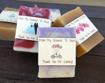 Bridal Shower Soap Favors - Bridal Shower Favors - Unique Bridal Shower - Party Favor - Wedding Shower Gift - Natural Soap Favors Guest Soap