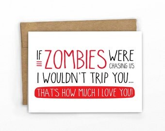 Zombie Love ~ Funny Love Card | Anniversary Card by Cypress Card Co.