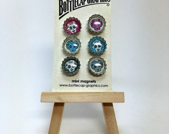 Mini Magnet Set - Sugar Skulls