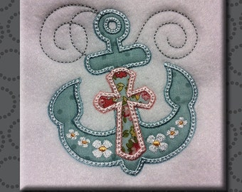 Easter Cross Embroidery Design Jesus Applique Hoops 4x4