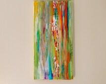 Abstract painting, Abstract artwork, Turquoise Art, Aqua Art, Pink Art, Orange art, Bubble art,