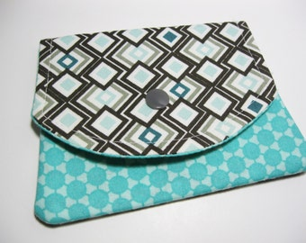 Womens Fabric Wallet, Cotton Fabric Wallet, Credit Card Holder, Gift Card Holder, Under 20 Gift For Her