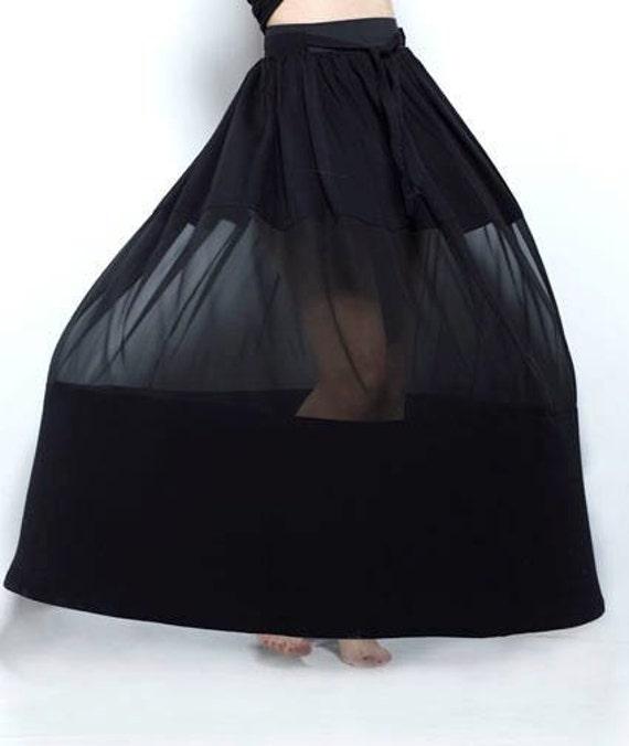 Black Bohemian Skirt 56
