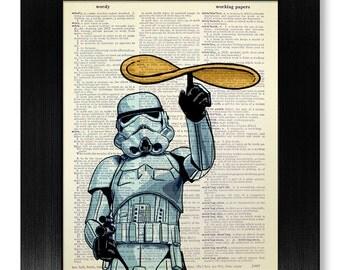 Star Wars Kitchen Wall Art, STAR WARS Wall Art, Funny Kitchen Wall Art, Star Wars Poster, Stormtrooper Poster, PIZZA Art, Kitchen Artwork