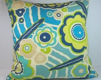 HGTV Home Floral Circut, Pillow Cover, Throw Pillow, Decorative Throw Pillow, Toss Pillows, Accent Pillows 18 x 18 Inches