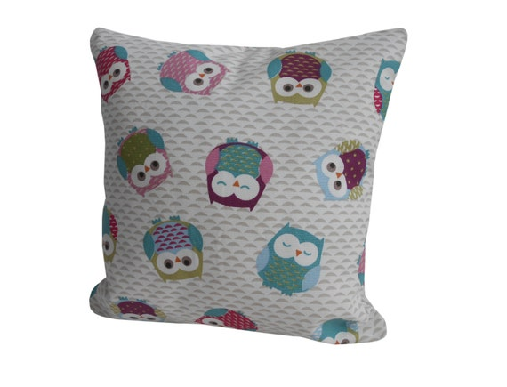 Owl Throw Pillow Covers : Decorative Cushion Cover Pillow case Owl Cushion Owl Print