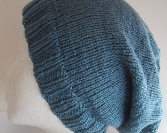 Quiet - Teal Knitted Beanie/Hat